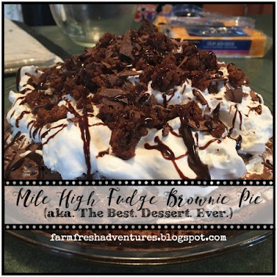 Mile High Fudge Brownie Pie--best dessert ever!