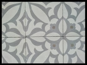 Zebra cement tile pattern in B Colorway from Avente Tile