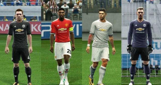 Manchester United 2017-18 Kit PES 2013