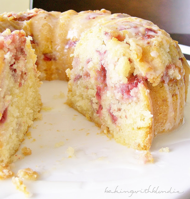 Strawberry Lemon Yogurt Bundt Cake