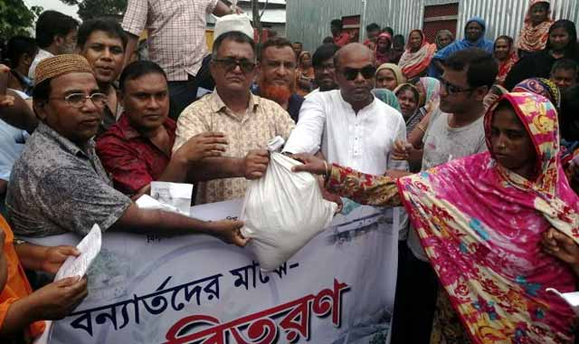 Distribution of Eid content among flood victims of Jamalpur Association UK