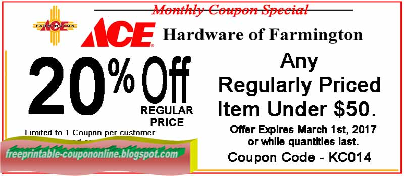 picture about Ace Hardware Printable Coupons referred to as Printable Discount coupons 2019: Ace Components Discount coupons