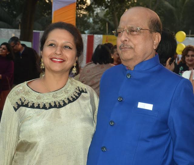 Priya Paul with Minister Sadhan Pande