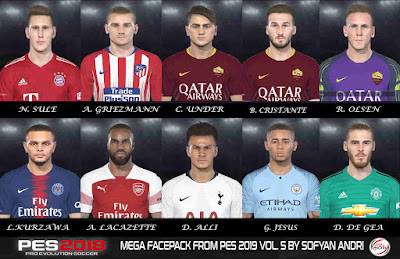 PES 2018 Mega Facepack From PES 2019 Vol. 5 By Sofyan Andri