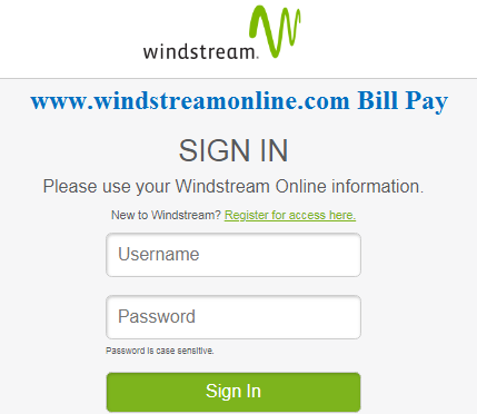 Windstreamonline.com BillPay Login