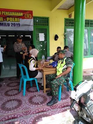 Patroli Dokkes Polres Blora Berikan Dukungan Kesehatan Petugas Pam Pemilu 2019