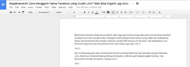 Cara Memperbaiki File Doc dengan Google Doc