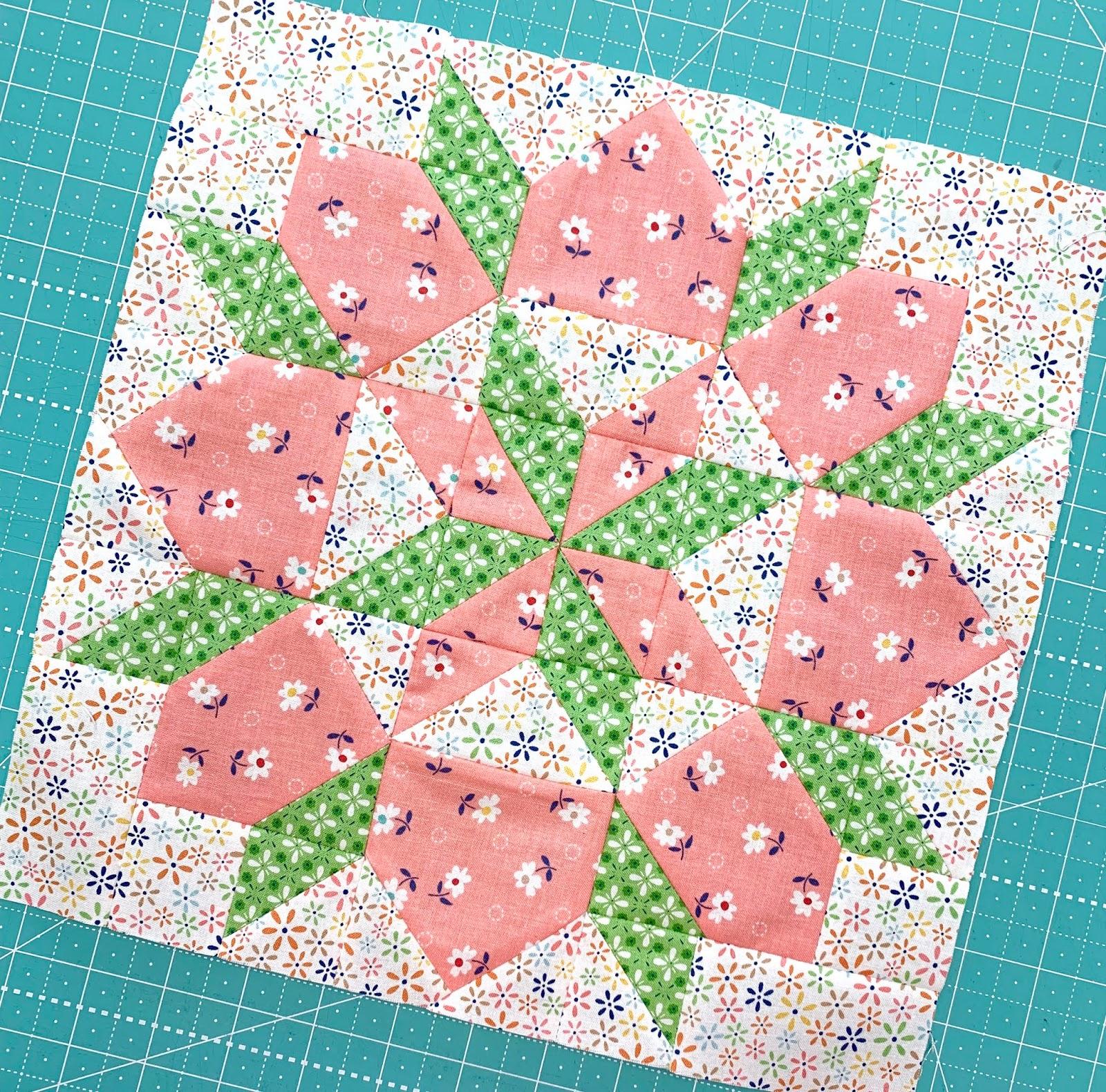Bee In My Bonnet Vintage Block Along Block One Grandma S Star Quilt Block Tutorial With Farm Girl Vintage Fabric