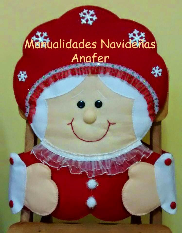 Manualidades anafer cubresillas navide os for Hacer papa noel grande