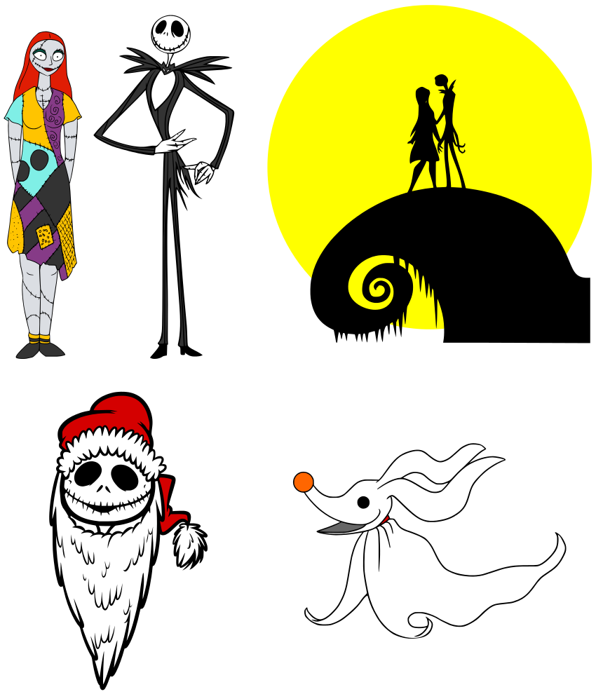 nightmare before christmas clipart [ 850 x 990 Pixel ]