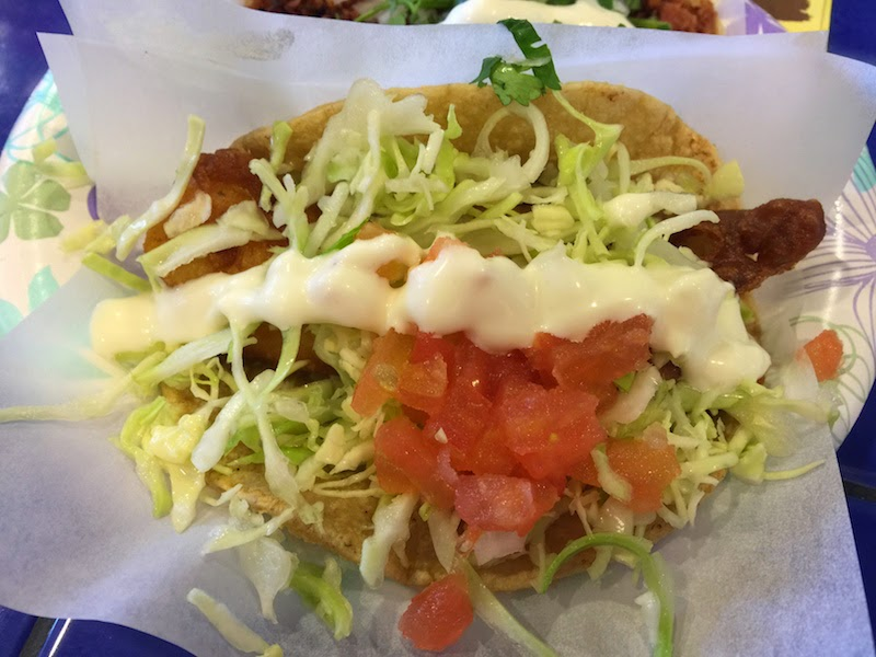 99 cent fish taco at TJ Oyster Bar in San Diego