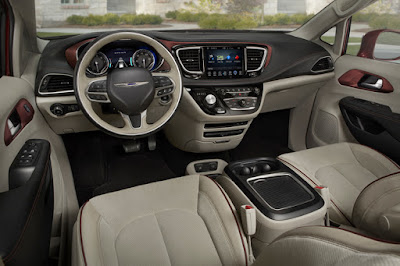 Chrysler Pacifica dashbord & stearing wheel Hd image
