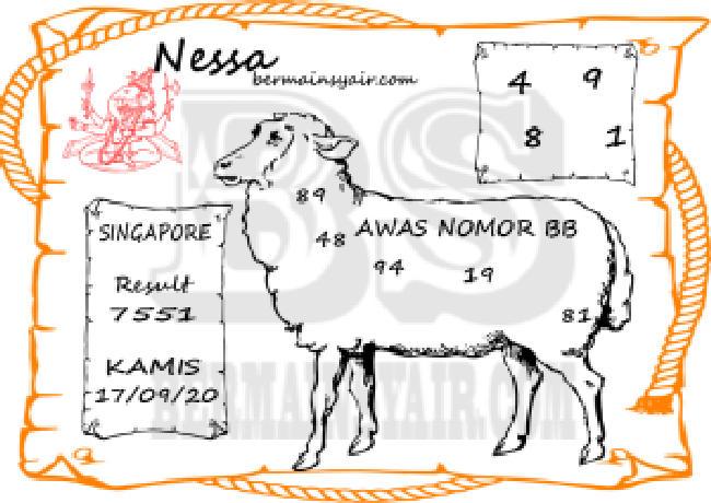 Kode syair Singapore Kamis 17 September 2020 257