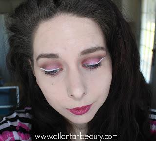 makeup look using purple eyeshadow