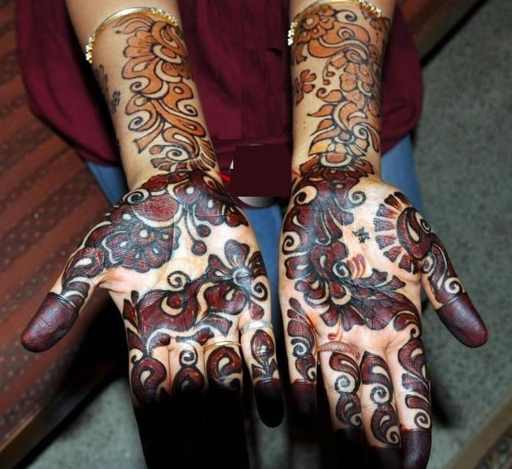 arabic black simple mehandi designs