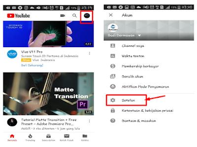 cara mengaktifkan tampilan youtube menjadi Dark Mode tanpa aplikasi