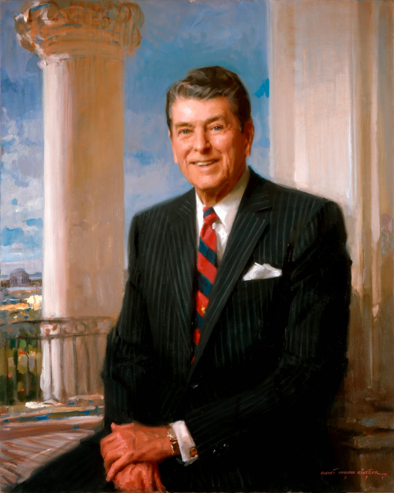 Portrait of Ronald Reagan, Everett Raymond Kinstler, International Art Gallery, Self Portrait, Art Gallery, Portraits Of Painters, Fine arts, Self-Portraits, Ronald Reagan