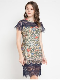 Dress Batik Cantik Modern
