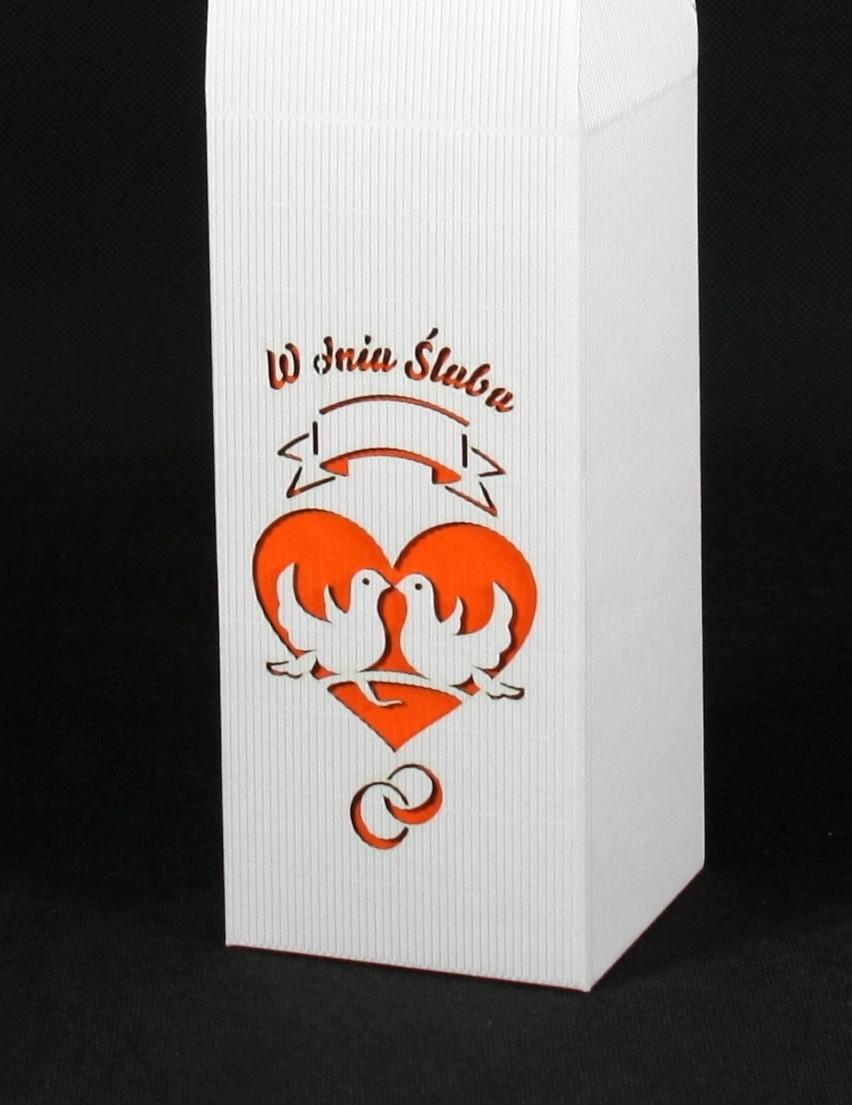 Pudełko na ślub na wino