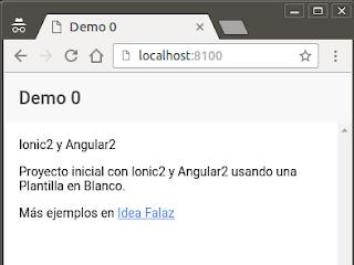 Ionic2 Demo 0