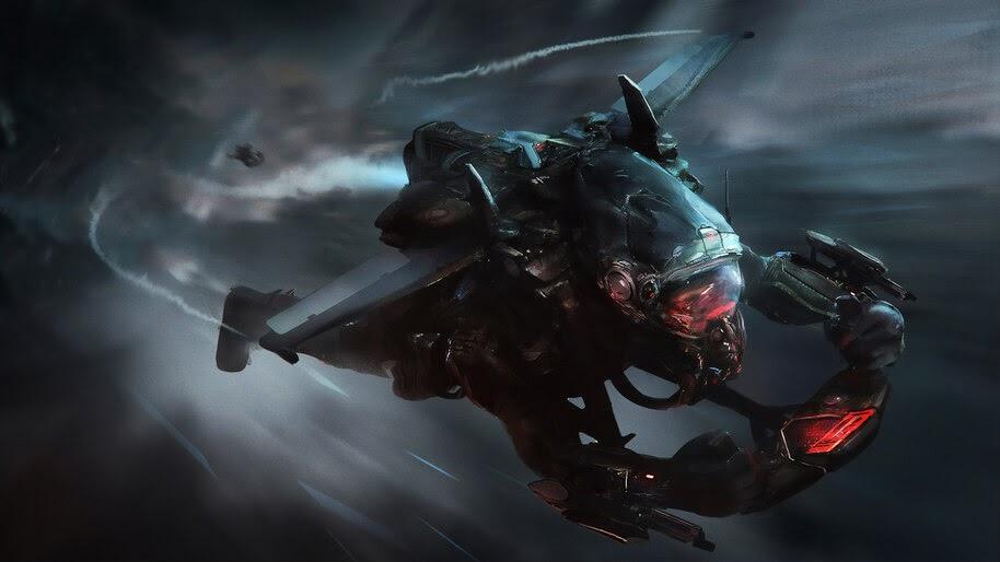 Sci-Fi, Jetpack, Pilot, Flying, 4K, #4.46