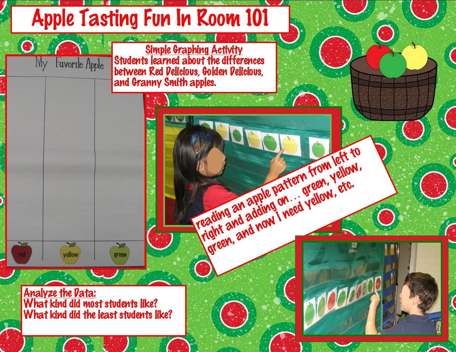 Kindergarten Crayons Apple Tasting Fun