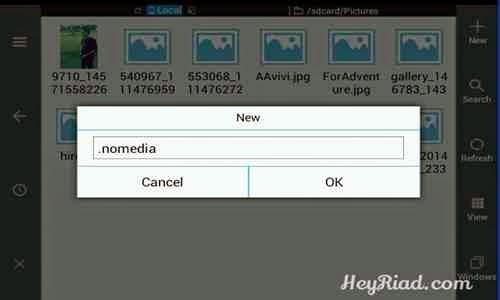 gambar dan folder di Smartphone dan Tablet Android tanpa menggunakan Aplikasi Menyembunyikan Foto Video Di Android Tanpa Aplikasi