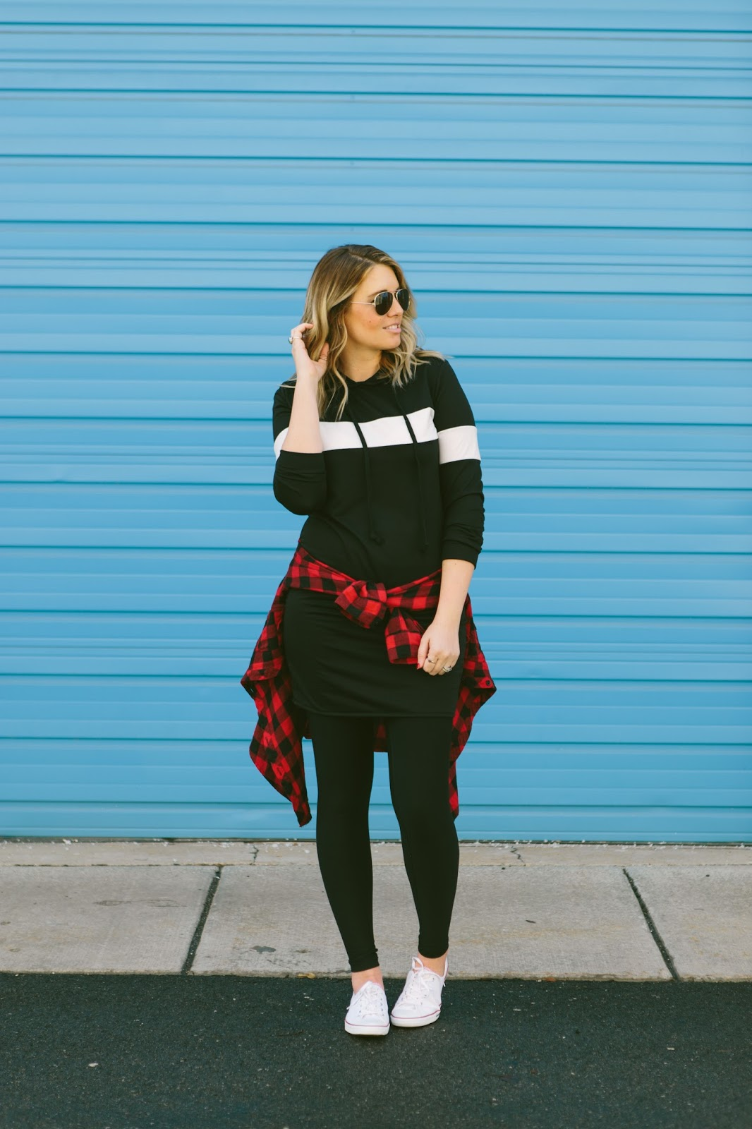 Sporty Chic Outfit, Utah Fashion Blogger, Hoodie Dress