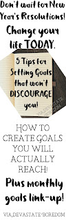 If you're tired of feeling stuck, there are some seriously helpful tips here!  5 Steps to Creating Goals that Won't Discourage You! Embracing a Life of Intention, Purpose, and Focus - How to Actually Come Up with Goals You'll Reach!  via Devastate Boredom