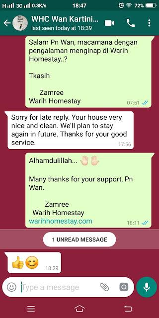 Warih-Homestay-Wan-Kartini-Testimonial