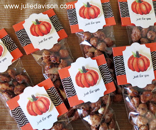 Stampin' Up! Painted Autumn Thanksgiving Table Treats ~ 2017 Holiday Catalog ~ www.juliedavison.com