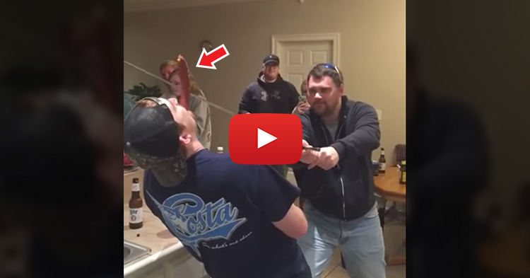 Drunk Man accidentally cuts off Friend's nose in a failed sword stunt
