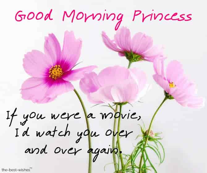 good morning message to a princess