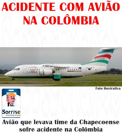acidente com avião da chapecoense na colombia