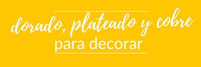Decoración en dorado, plateado y cobre
