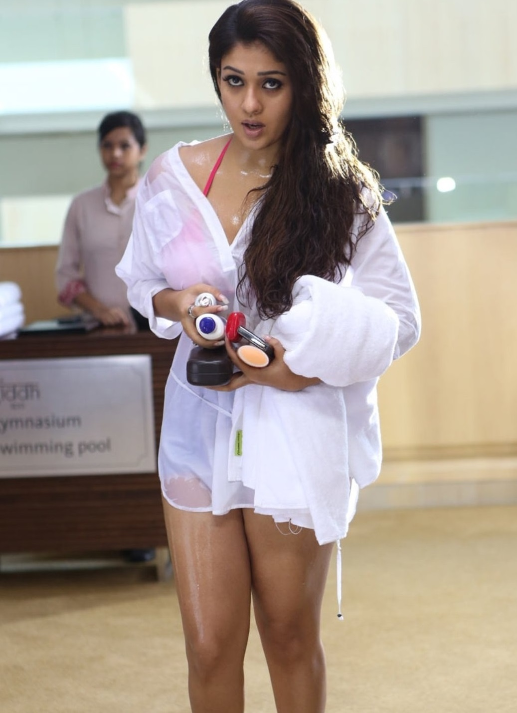 Nayanthara Sexy Hot Unseen Boobs Belly Butt Panty Thighs -8553