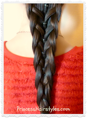 Elastic mermaid braid video tutorial