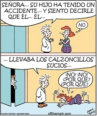 Humor. Hijo accidente