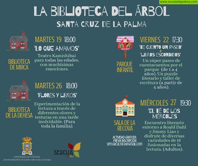 El proyecto de promoción a la lectura 'La Biblioteca del Árbol' programa nuevas actividades en Santa Cruz de La Palma