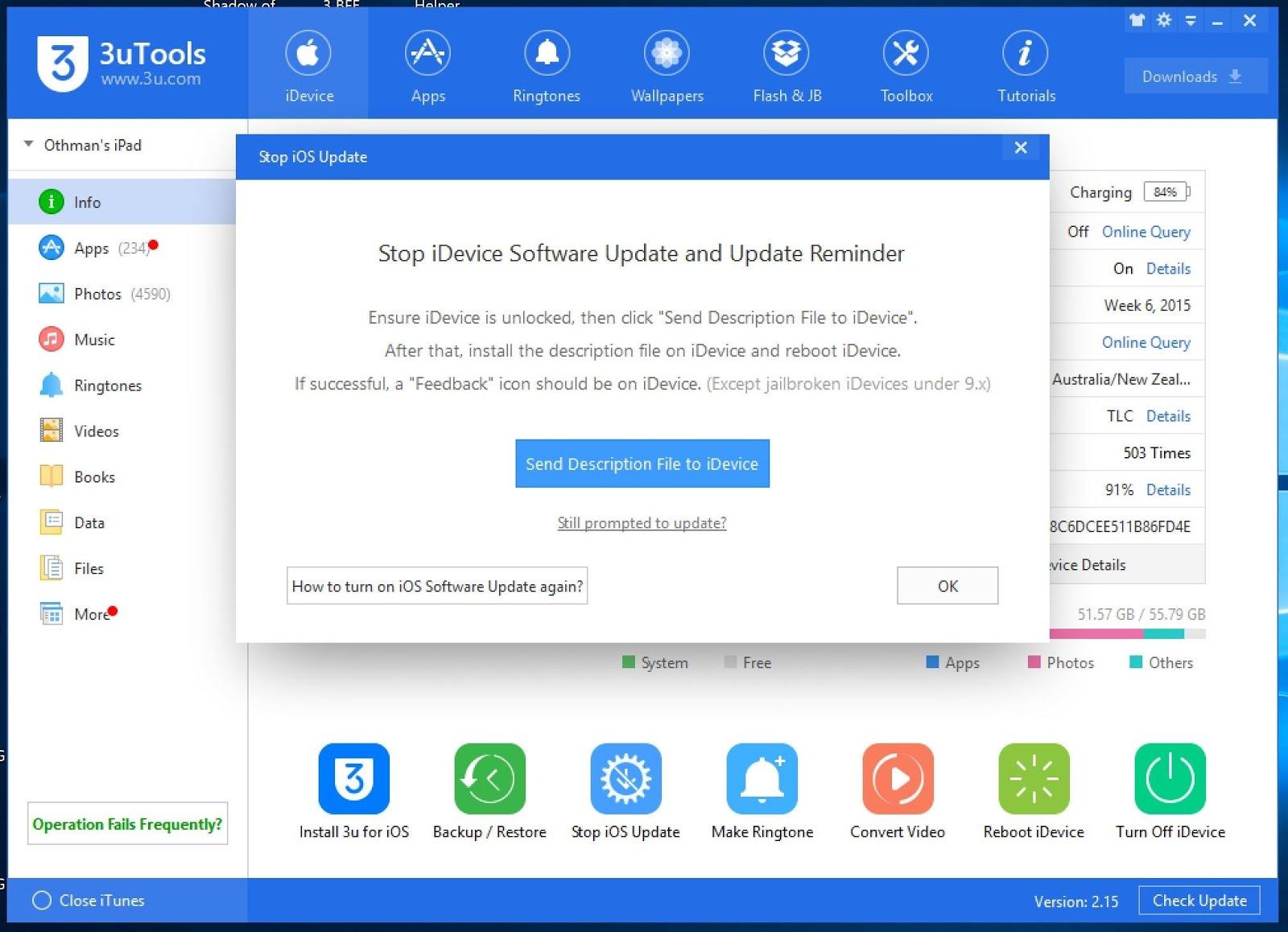 مراجعة برنامج 3u Tools افضل بديل لـiTools و Tongbu لادارة الآيفون