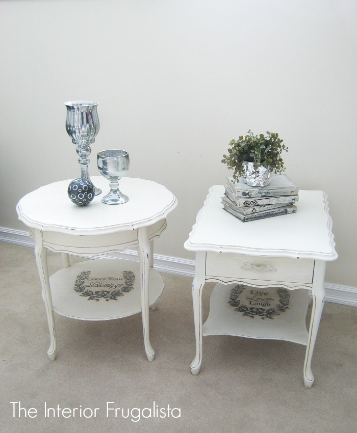 Kroehler Tiered Side Tables with graphics