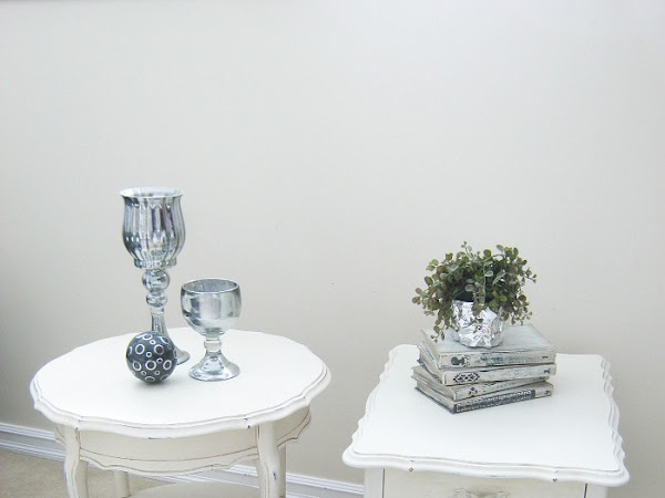 Kroehler French Provincial Side Table Makeovers Unified With Graphics