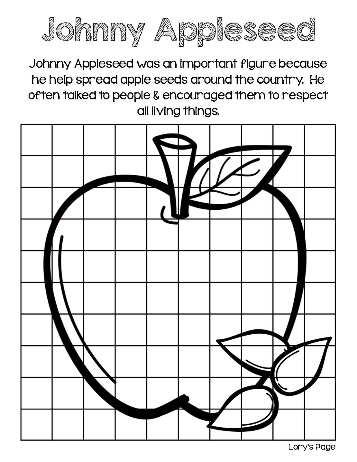 Lory S 2nd Grade Skills Johnny Appleseed Amp A Bushel Of