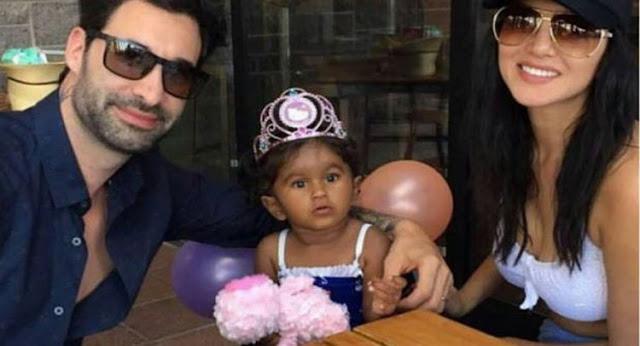 सनी लियोन ने इस तरह मनाया अपनी बेटी का जन्मदिन