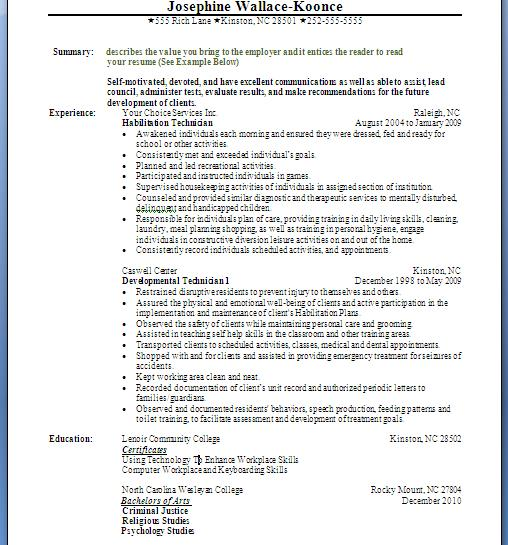 Combination Resumes Examples - combination resume format