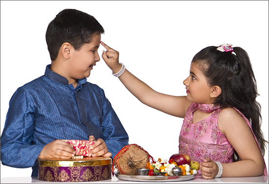 Raksha Bandhan Brother and Sister Photo