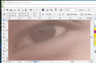 belajar membuat vektor wajah di corel DRAW
