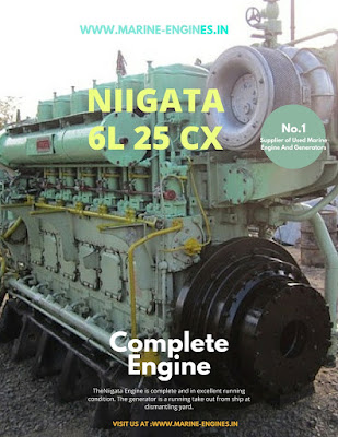 Niigata, Niigata 6L25CX, Niigata marine engine spare parts, ised , new, unused, reconditioned,