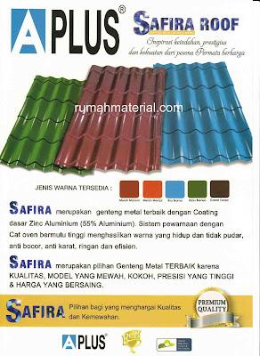 Genteng Metal SAFIRA ROOF