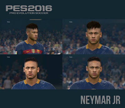 PES 2016 Neymar New Face & Hair by Alberado Ritumesa‎